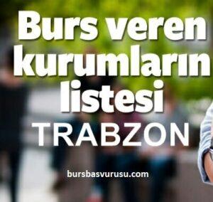 Trabzon Burs Veren Kurumlar