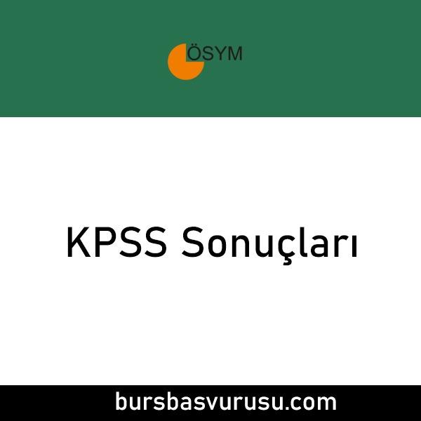 KPSS Sonuclari 2021